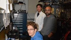 Taking data with Dan, Varun, and Ronen