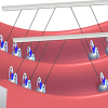 Dipolar Quantum Newton's Cradle